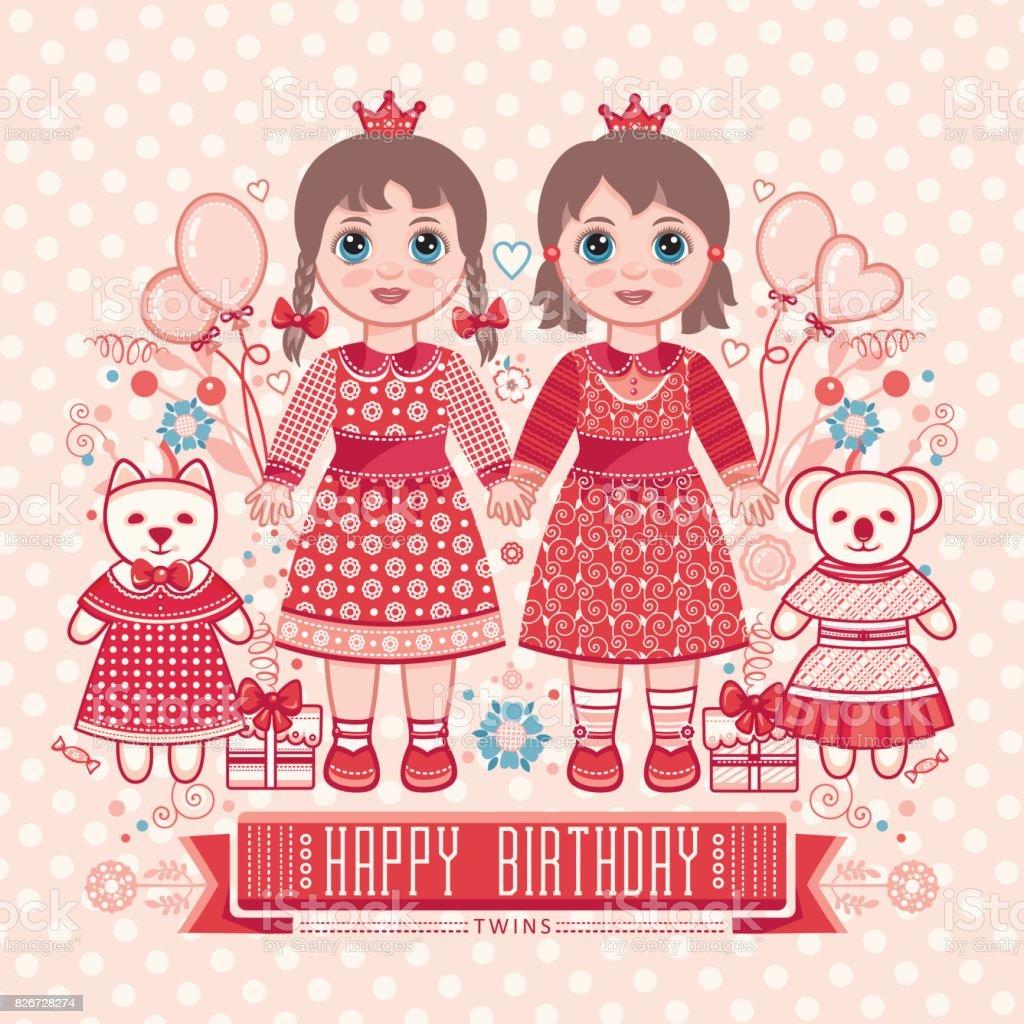 Happy birthday greetings card for girl stock vector art more happy birthday greetings card for girl royalty free happy birthday greetings card for kristyandbryce Gallery