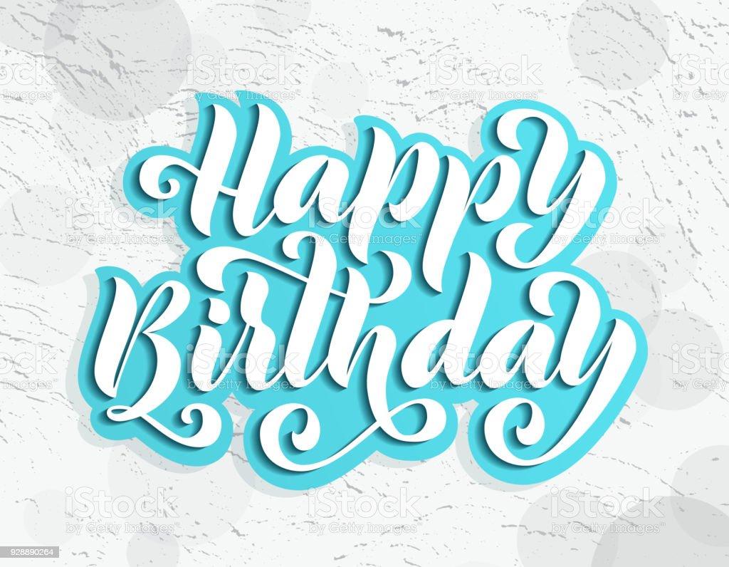 Herzlichen Glückwunsch Zum Geburtstag Handgezeichnete