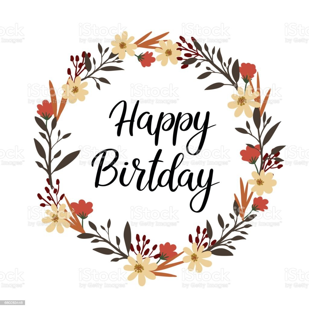 happy birthday hand lettering greeting card vector Vintage Honey Bee Clip Art Killer Bee Vector
