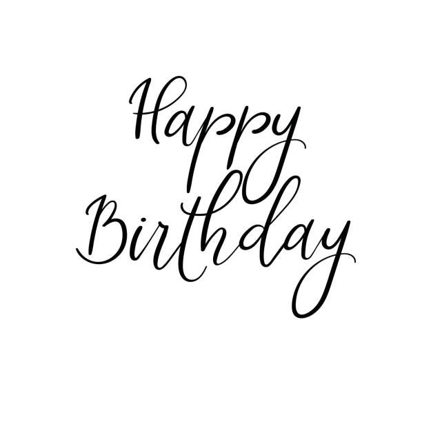 Best Happy Birthday Brush Script Style Hand Lettering