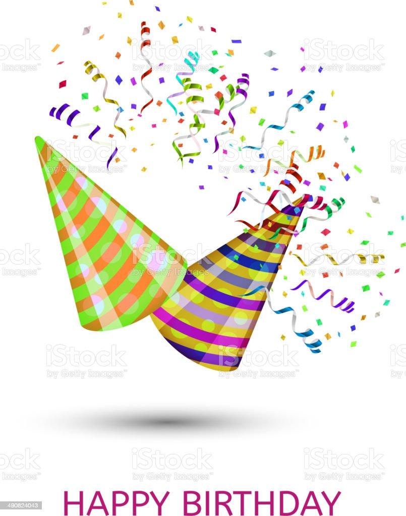 Joyeux anniversaire surprise chapeaux et cotillons cliparts vectoriels et plus d 39 images de - Image cotillons fete ...