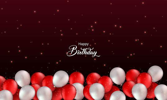 Happy Birthday holiday design. stock illustration