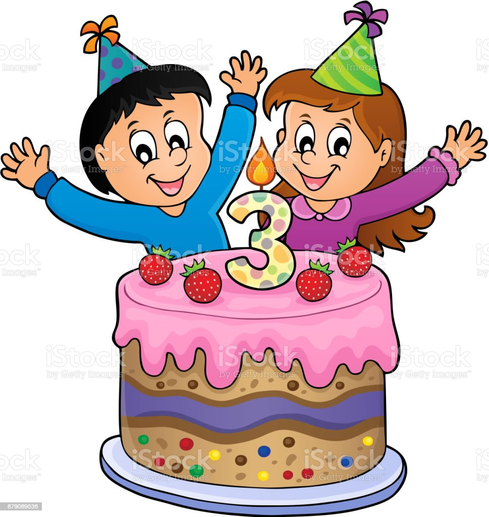 Happy Birthday Image For 3 Years Old Royalty Free