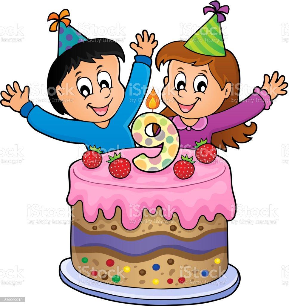 Ilustración de Imagen De Feliz Cumpleaños De 9 Años De Edad y más ...