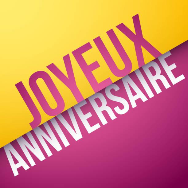 grattis på födelsedagen franska AnniversaireIllustrationer och vektorbilder   iStock grattis på födelsedagen franska