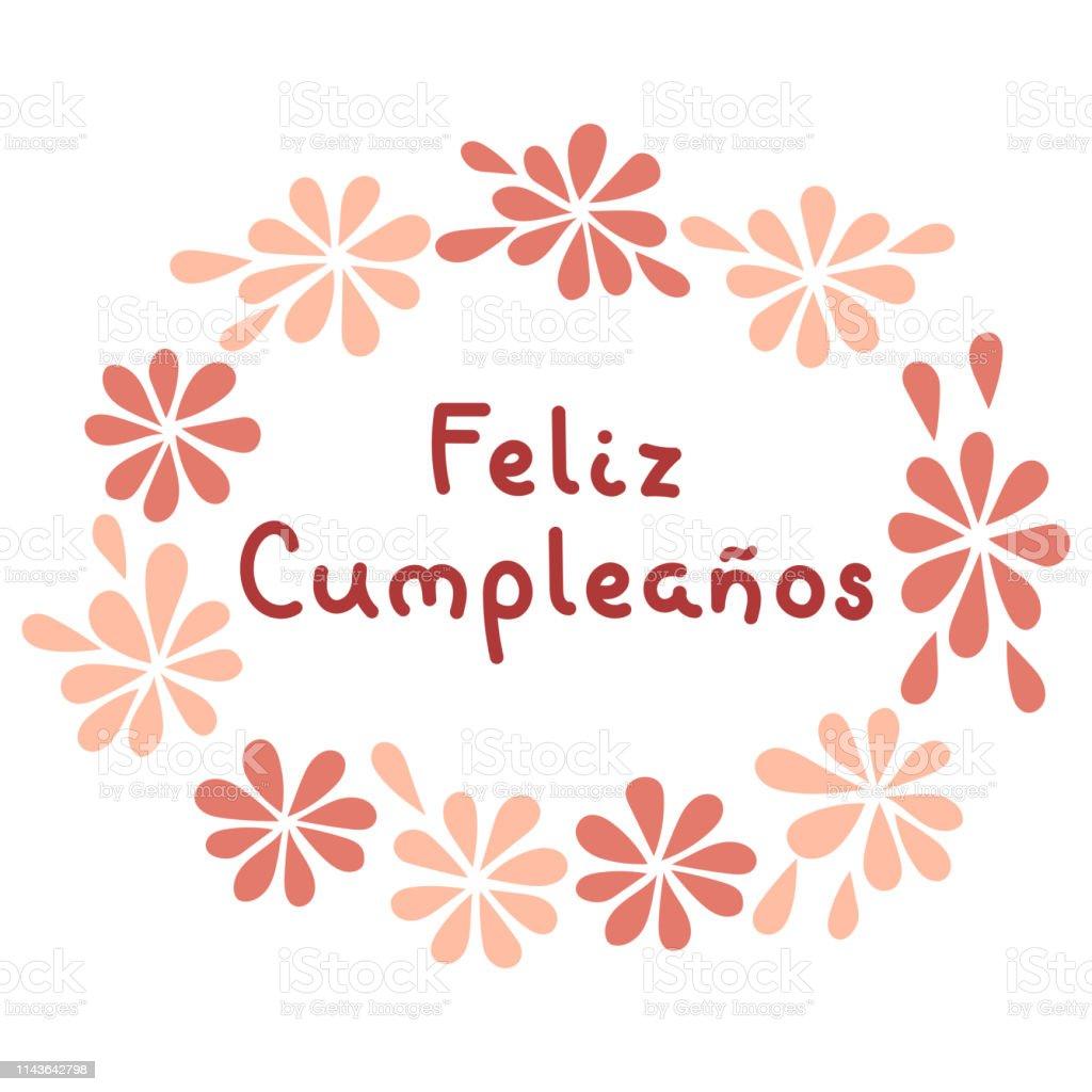 Joyeux anniversaire en espagnol. , Feliz Cumpleanos lettrage. Illustration vectorielle. joyeux anniversaire en espagnol feliz cumpleanos lettrage illustration vectorielle vecteurs libres de droits et plus d'images vectorielles de a la mode libre de droits