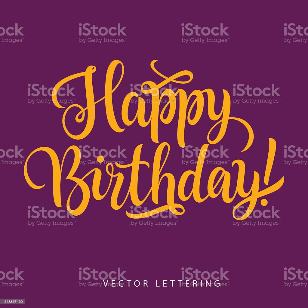 Happy Birthday Inscription 2 vector art illustration