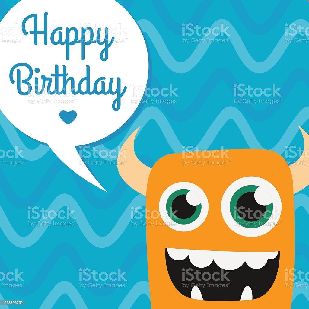 Happy Birthday Invitation Card Design Stock Illustration
