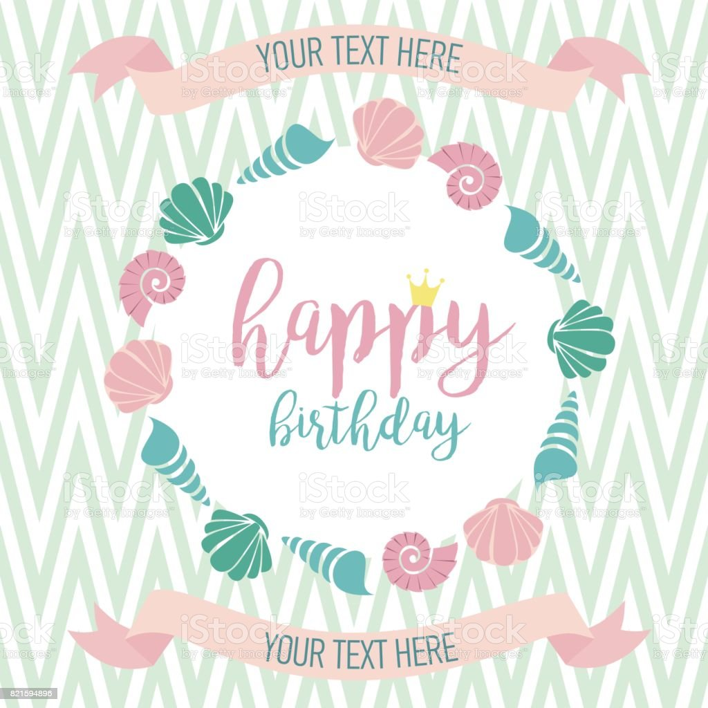 Happy Birthday Invitation For Party Or Greeting Card stock vector ...