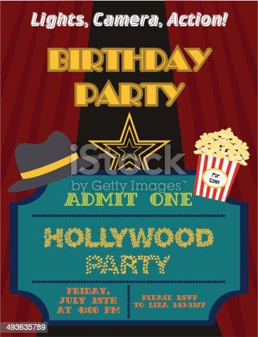 Happy birthday invitation stock vector art 493635789 istock stopboris Gallery