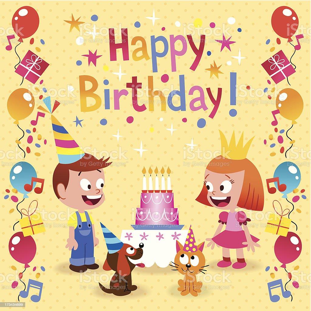 Amato Carta Di Buon Compleanno Per Bambini Illustrazione 173434699 | iStock LQ36