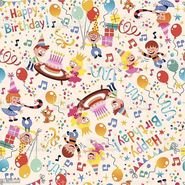 Happy birthday kids party pattern vector id187945644?b=1&k=6&m=187945644&s=612x612&h=mwbkca29p69bb9tdbrb pqfsfgzdfnx8lkfinuhktwq=