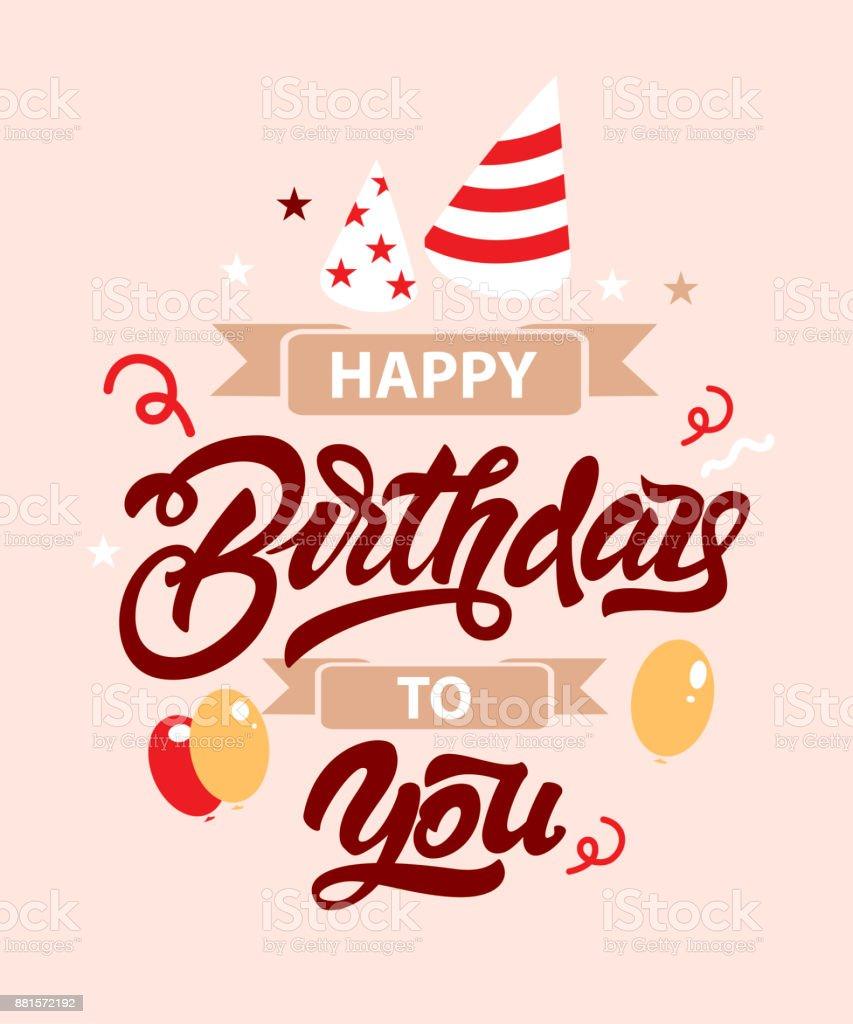 Herzlichen Glückwunsch Zum Geburtstag Abbildung Mit