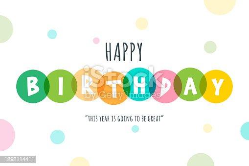 istock Happy Birthday lettering stock illustration 1292114411