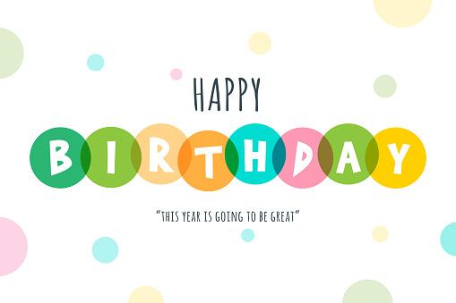 Happy Birthday lettering stock illustration