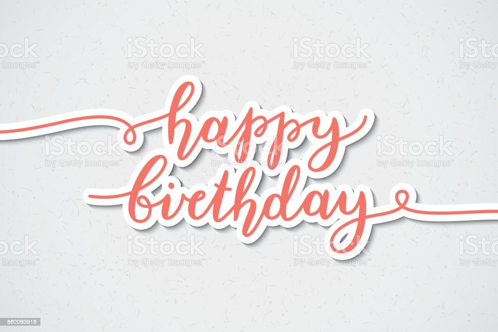 Alles Gute Zum Geburtstagschriftzug Stock Vektor Art Und Mehr Bilder