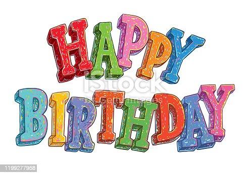 istock Happy Birthday letters 1199277958