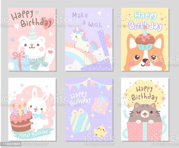 Happy birthday little friends set rectangle vector id1140619565?b=1&k=6&m=1140619565&s=612x612&h=hcqnjrveha1wu2pvmp gdwfoeizzfot4b3krzko23mc=