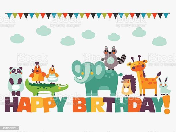 Happy birthday lovely card with funny cute animals and garlands vector id498555212?b=1&k=6&m=498555212&s=612x612&h=mtrqdejalay3mdhpn8dqrzcnegfpzs8wrebkqxcnwym=