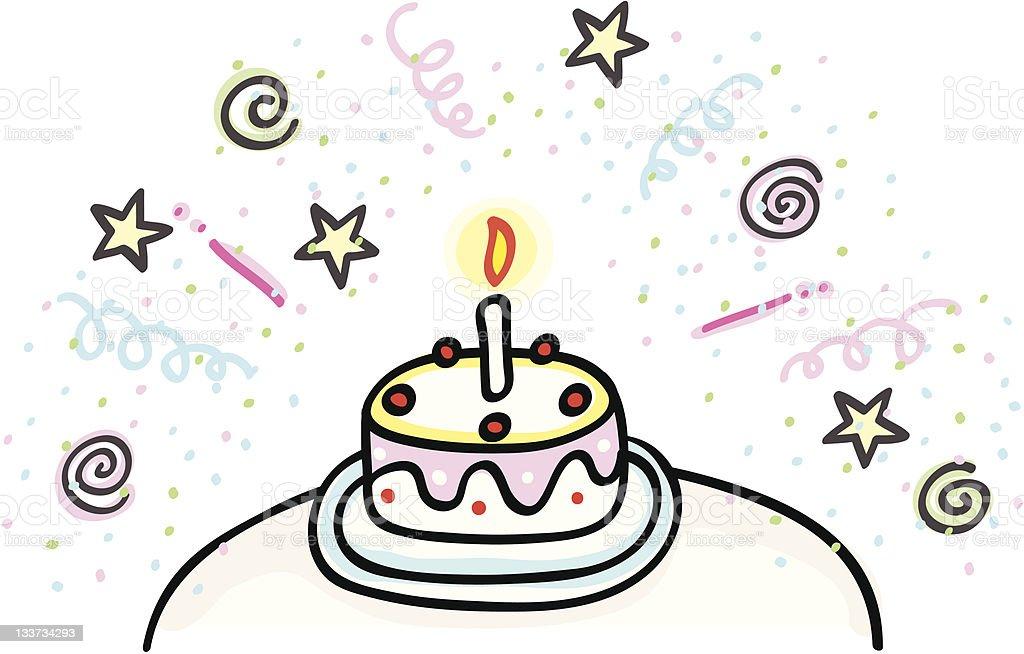 Alles Gute Zum Geburtstag Oder Hochzeitstorte Comic Stock Vektor Art