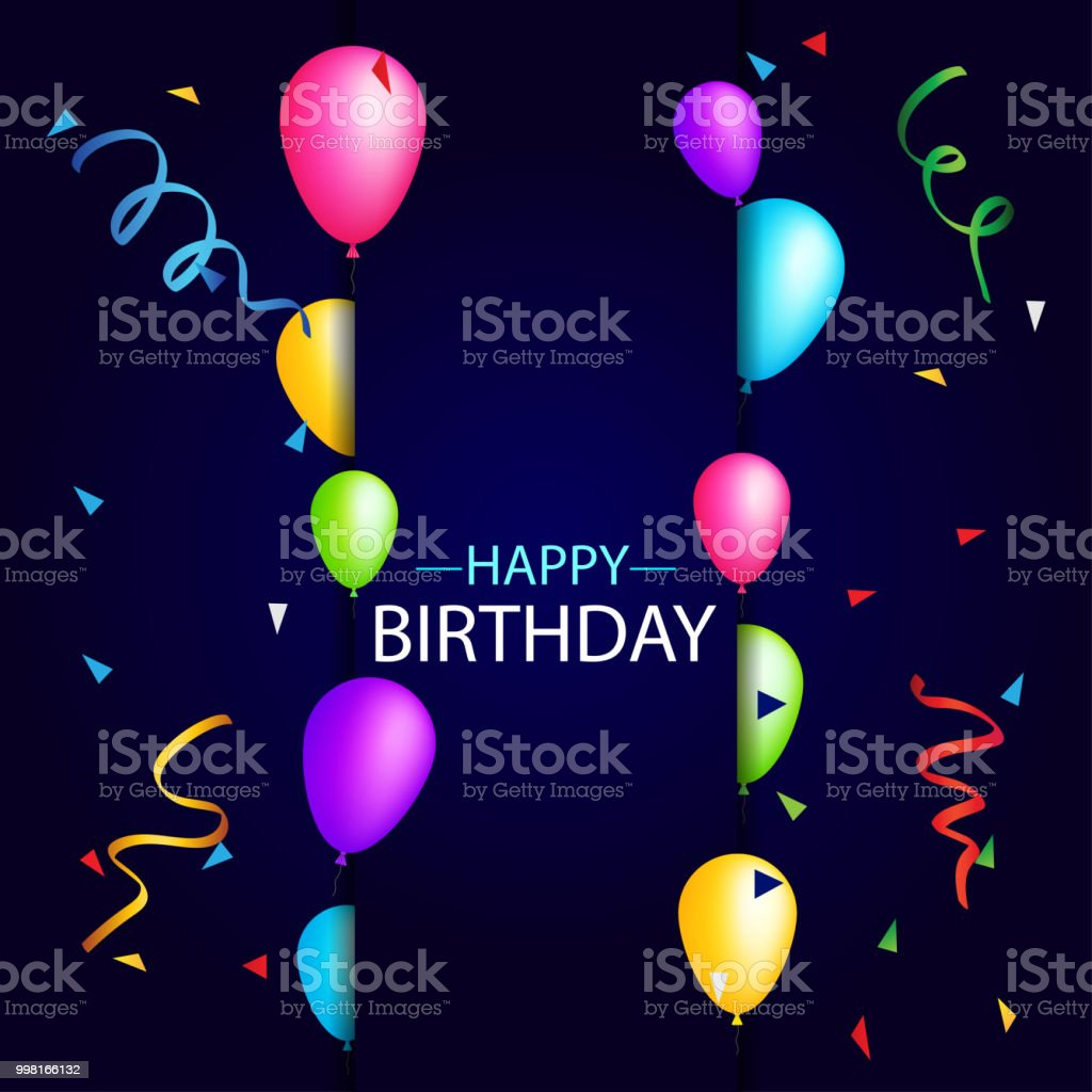Happy Birthday Party Background Vector Illustration Stock Illustration Download Image Now Istock