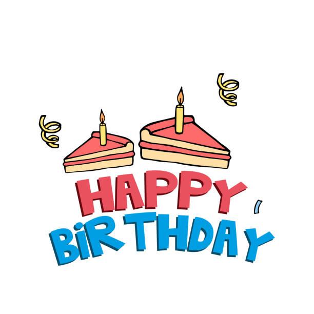 Joyeux anniversaire gâteau Background Image vectorielle - Illustration vectorielle