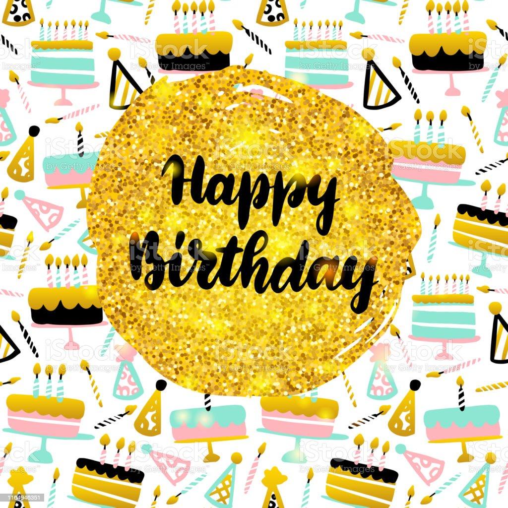 Happy Birthday Postcard Stock Illustration - Download Image Now