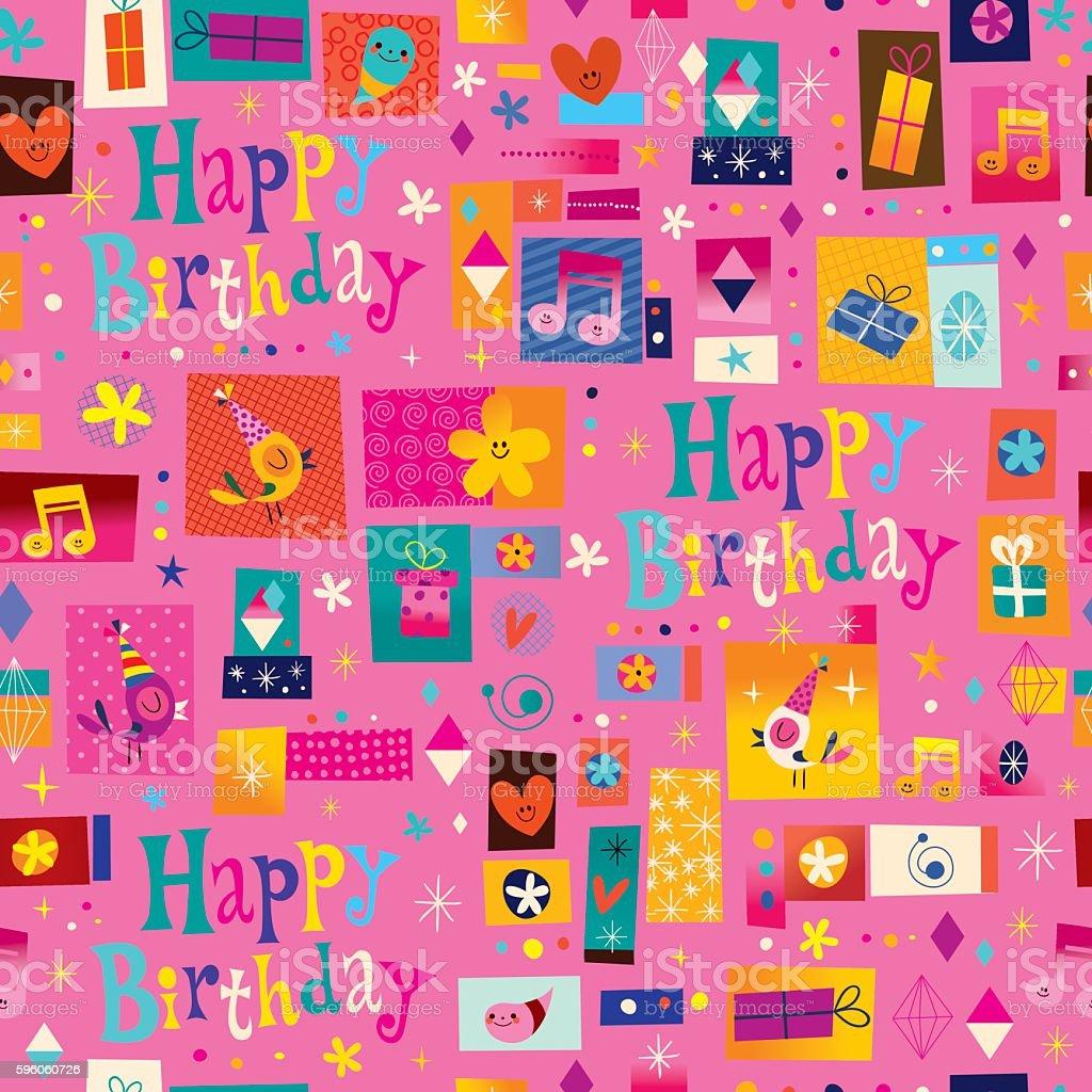 Happy Birthday seamless pattern royalty-free happy birthday seamless pattern stock vector art & more images of birthday