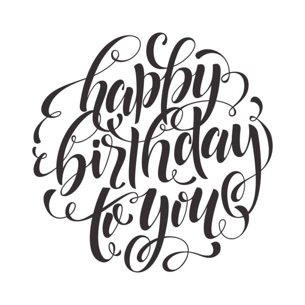 Royalty Free Happy Birthday Text Clip Art, Vector Images