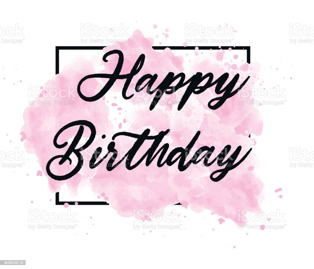 Happy Birthday Text Uber Grunge Kunst Pinsel Farbe Originaltextur Lizenzfreies