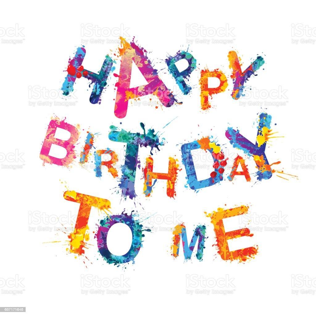 Alles Gute Zum Geburtstag Für Mich Stock Vektor Art und mehr Bilder ...
