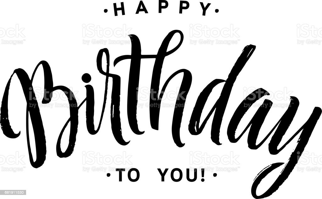 Happy Birthday To You Calligraphy Greeting Card Hand