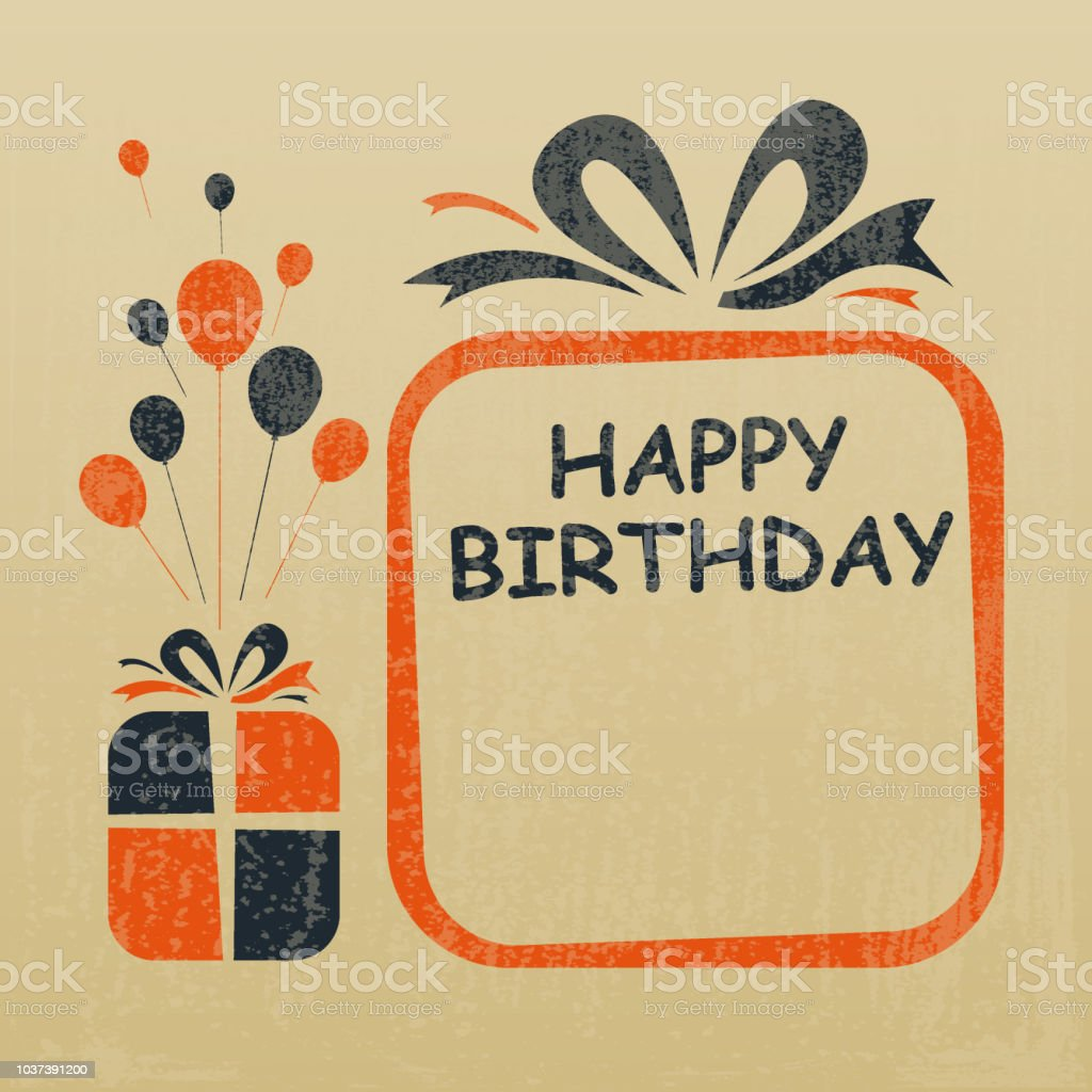 Happy Birthday To You Greeting Card Design Stock Vector Art More