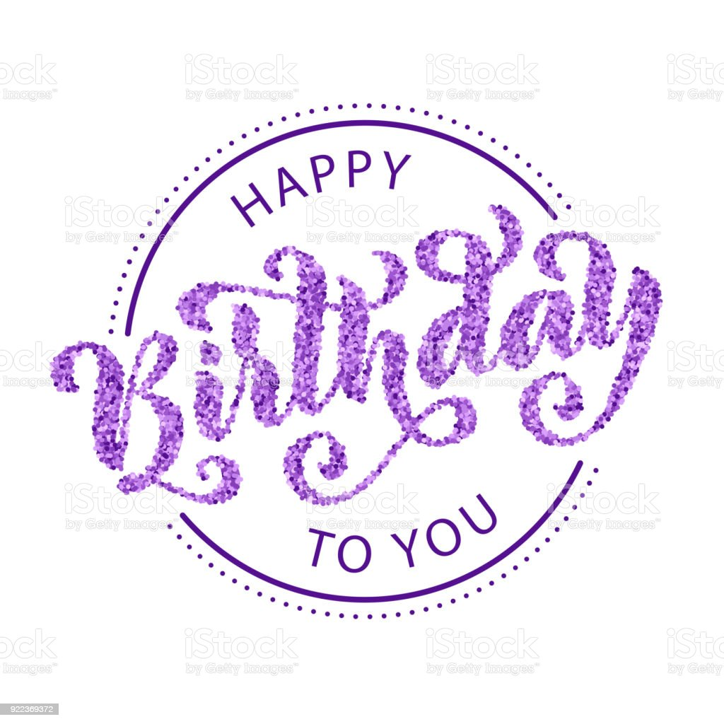 Hartelijk Gefeliciteerd Met Je Verjaardag Hand Getrokken Belettering