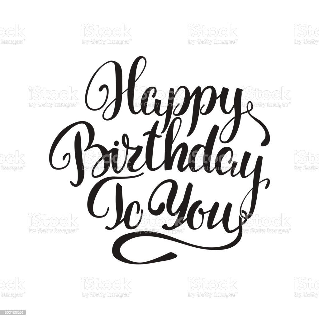 Happy birthday to you lettering greeting card stock vector art happy birthday to you lettering greeting card royalty free happy birthday to you lettering greeting m4hsunfo