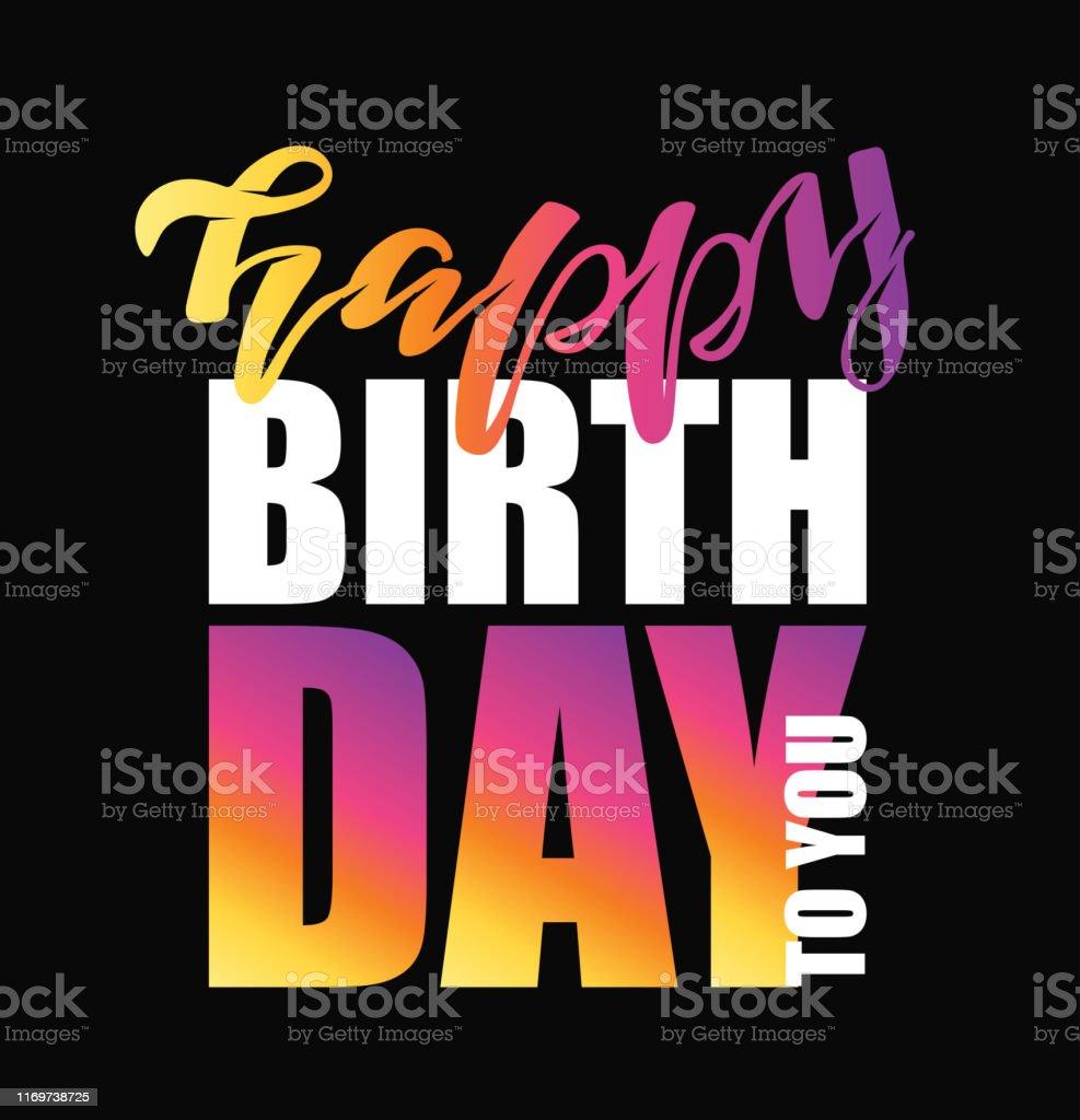 Happy Birthday To You Text As Badge Tag Icon Celebration