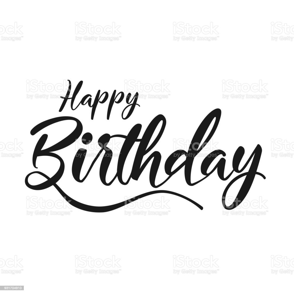 Happy Birthday Typographic Vector Design For Greeting Cards Birthday ...