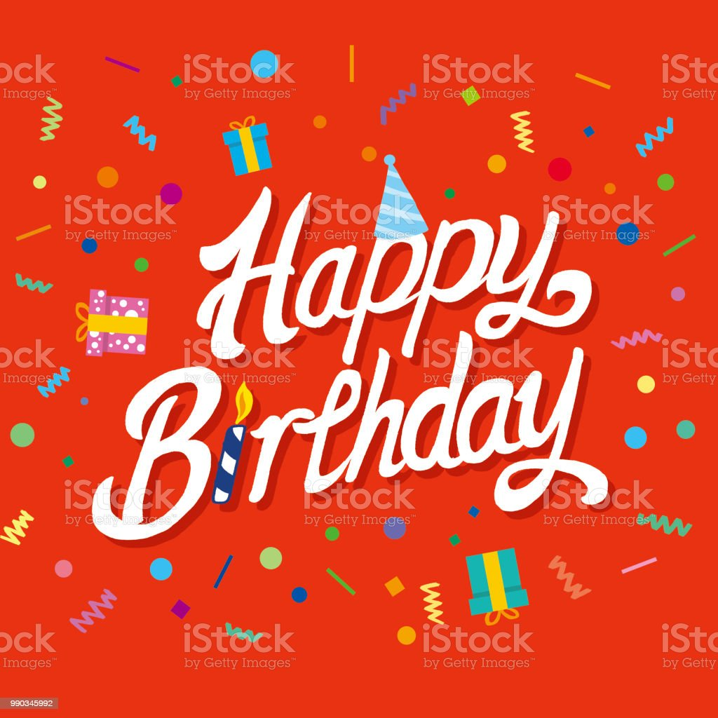 Happy Birthday Typographic Vector Design For Greeting Cards Birthday ...