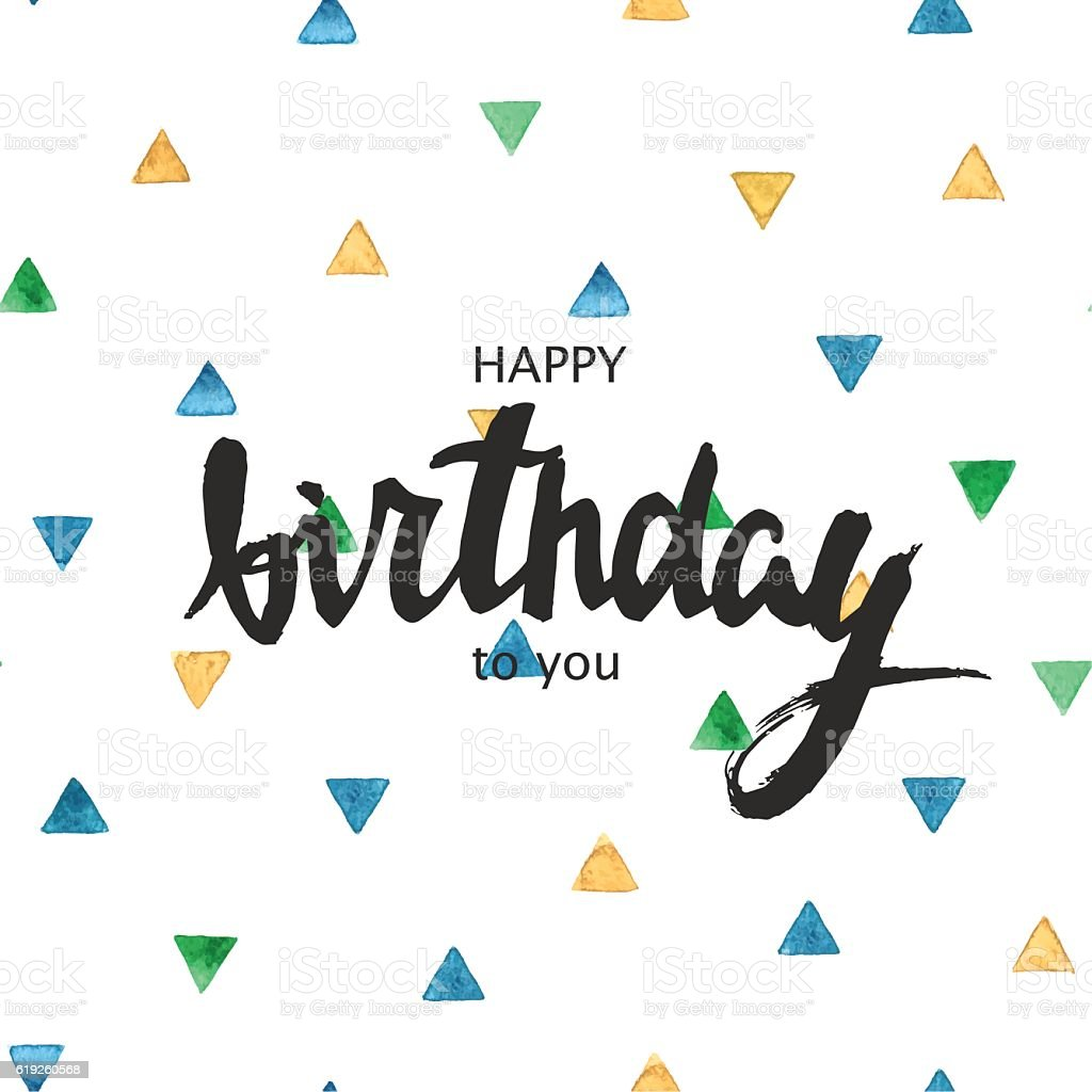 Happy Birthday Typography For Poster Invitation Greeting Card Or T ...