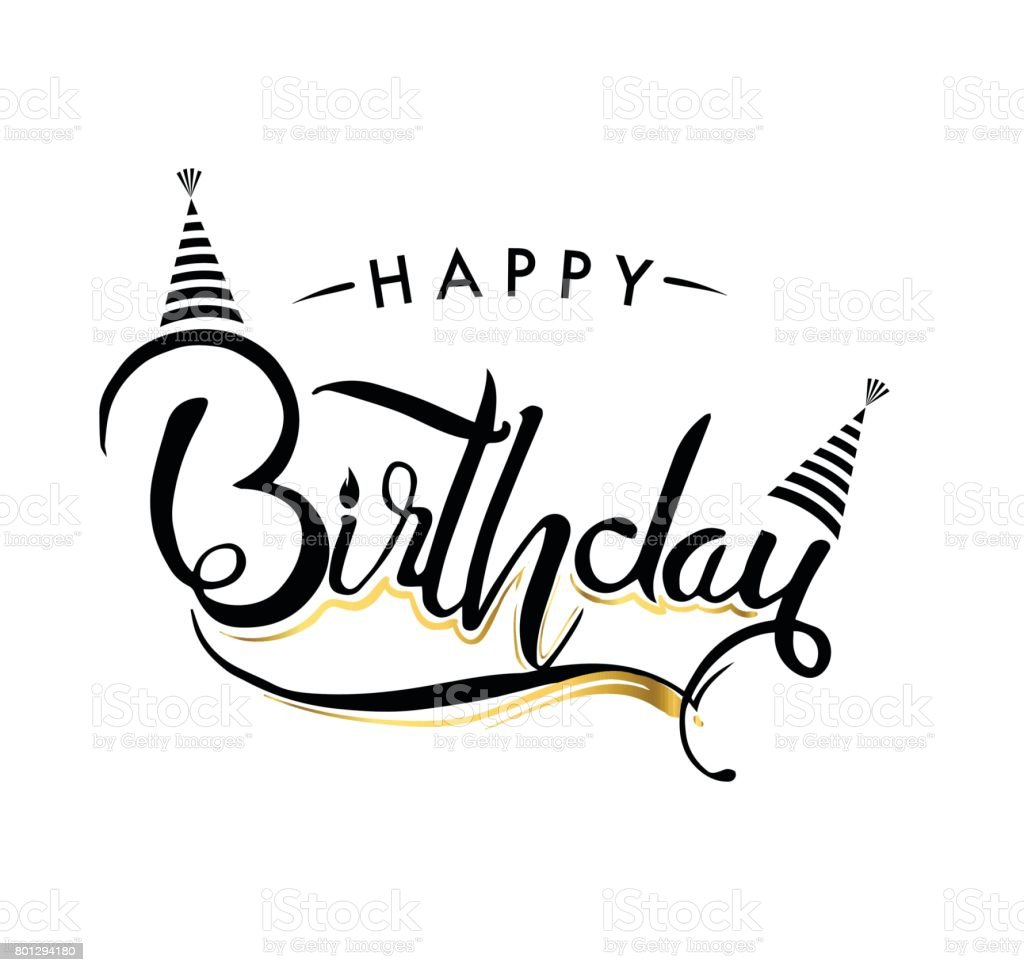 Happy Birthday Typography Vector Design For Greeting Cards And – Birthday Celebration Cards