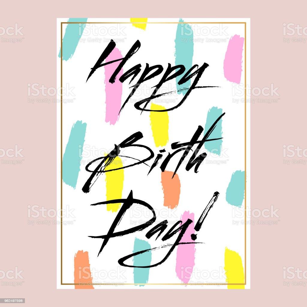 Happy birthday vector card design - Royalty-free Anniversary stock vector