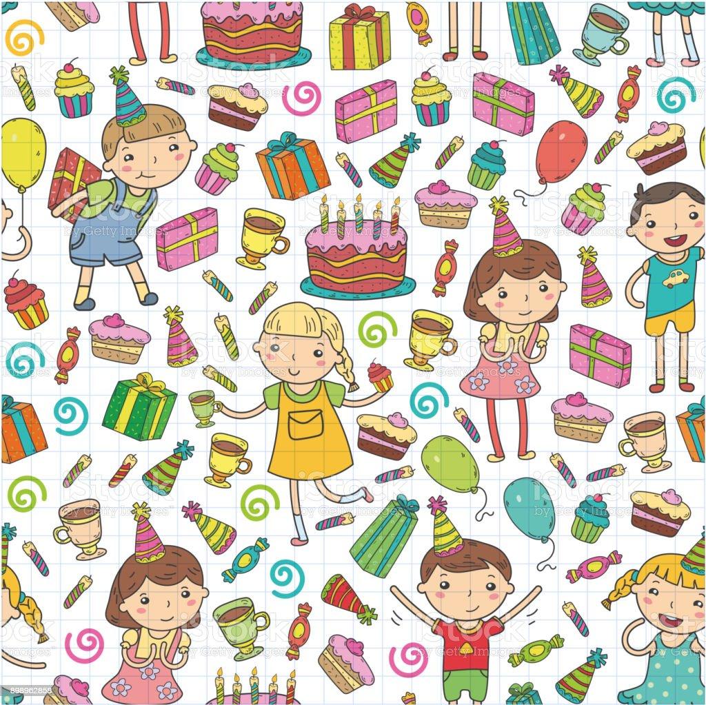 Ilustración de Feliz Cumpleaños Vector Diseño Sombrero De Cumpleaños ...