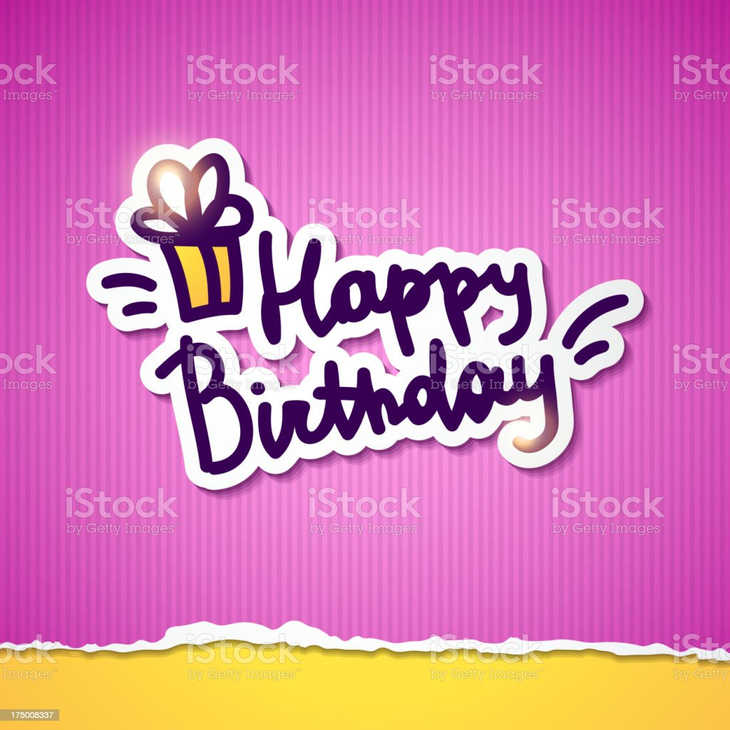 happy birthday royalty-free happy birthday stock vector art & more images of backdrop