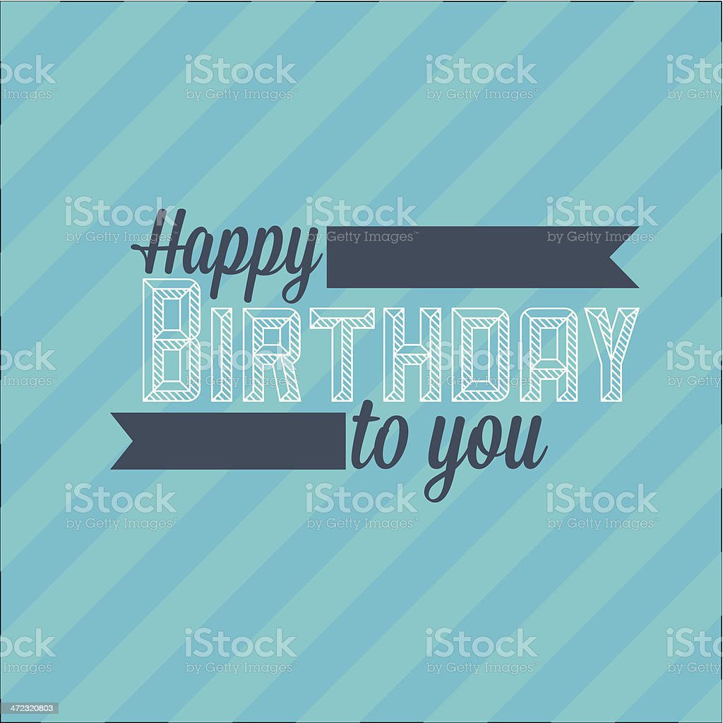 Happy birthday royalty-free stock vector art