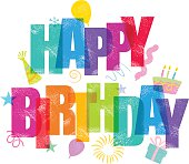 Birthday Greeting card message in traditional letter press print style. CS3 and CS3 versions in the zip.