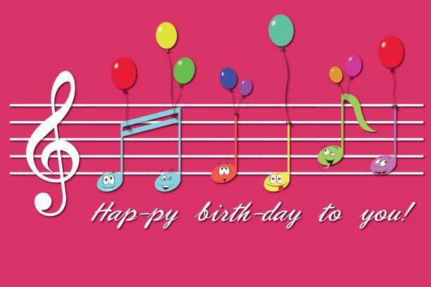 787 Happy Birthday Music Notes Illustrations Royalty Free Vector Graphics Clip Art Istock