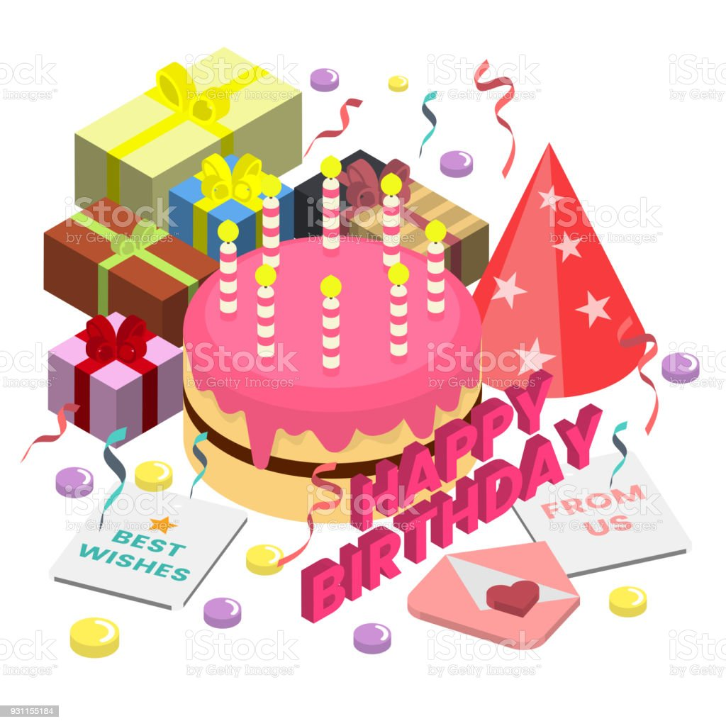 Happy Birthday Vector Logo For Banner Stock Vector Art More Images