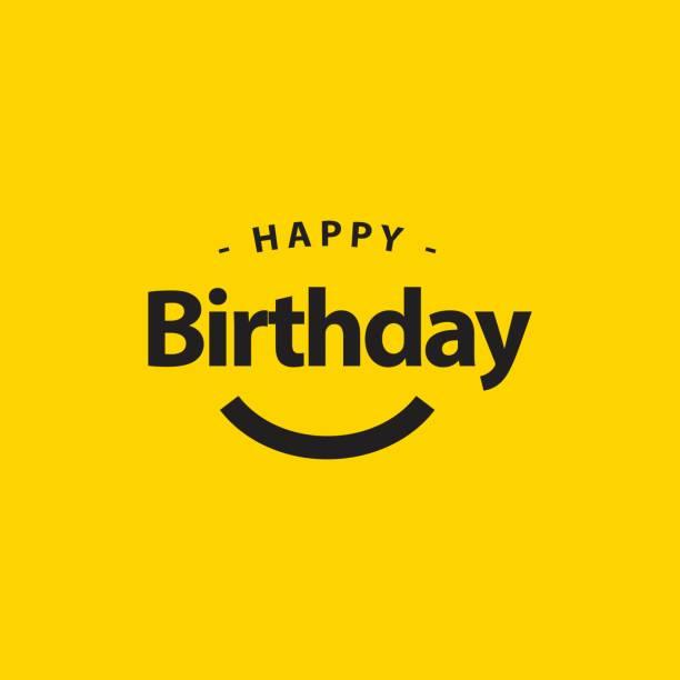happy birthday vector template design illustration - birthday stock illustrations, clip art, cartoons, & icons