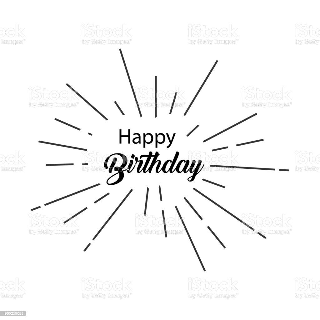 Happy Birthday Vector Template Design happy birthday vector template design - stockowe grafiki wektorowe i więcej obrazów 2015 royalty-free