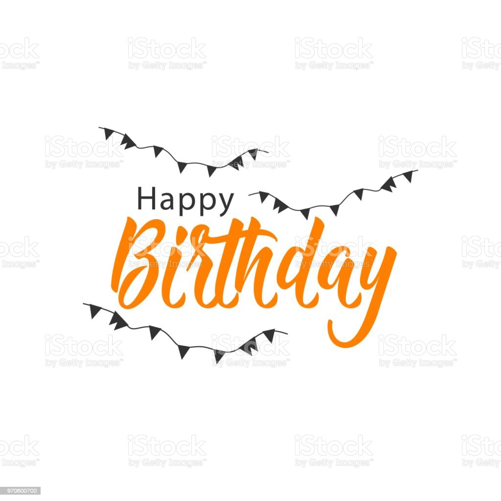 Happy Birthday Vector Template Design Stock Illustration - Download Image  Now